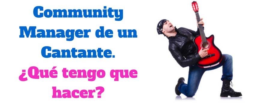Community Manager Cantante